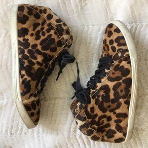 Joie Cheetah Calf Hair Sneakers
